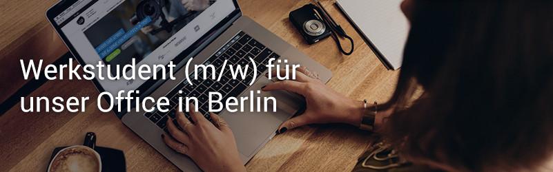 Werkstudent m/w für unser Office in Berlin gesucht!
