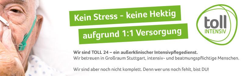 Gesundheitspfleger m/w - Stellenanzeigen im Großraum Stuttgart für die außerklinische Intensivpflege