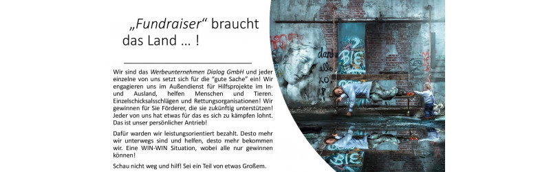 Dein Sommerjob 2018! Fundraising Door 2 Door - Leistung wird belohnt! - Schrattenthal