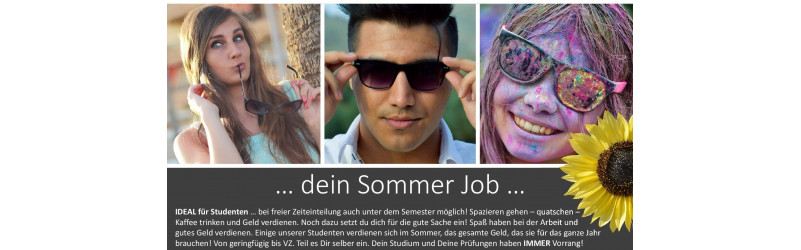 Dein Sommerjob 2018! Fundraising Door 2 Door - Leistung wird belohnt! - Friesach