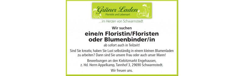 Suchen Florist/-in oder Blumenbinder/-in